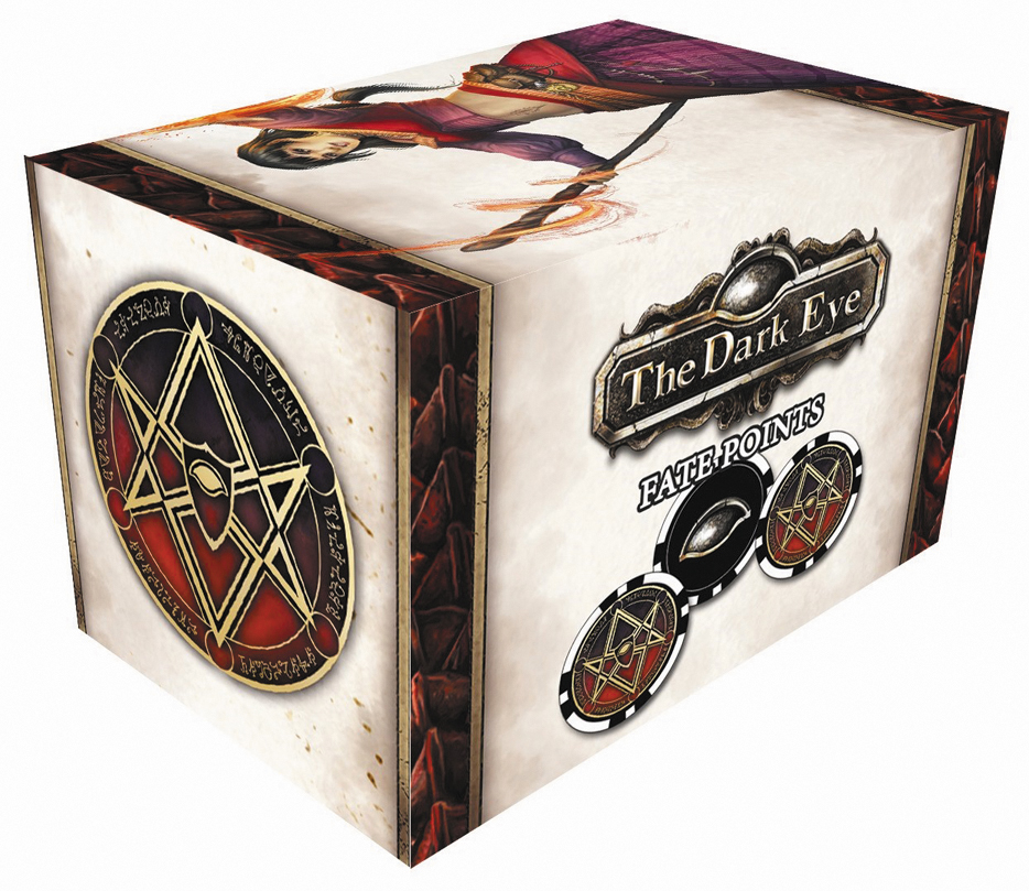 The Dark Eye Rpg: Fate Point Set - Mages Box Front