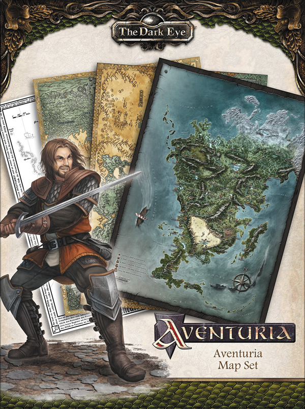 The Dark Eye Rpg: Aventuria Map Set Box Front