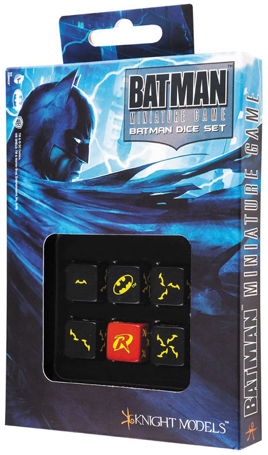 Batman Miniature Game: D6 Batman Dice Set (6) Box Front