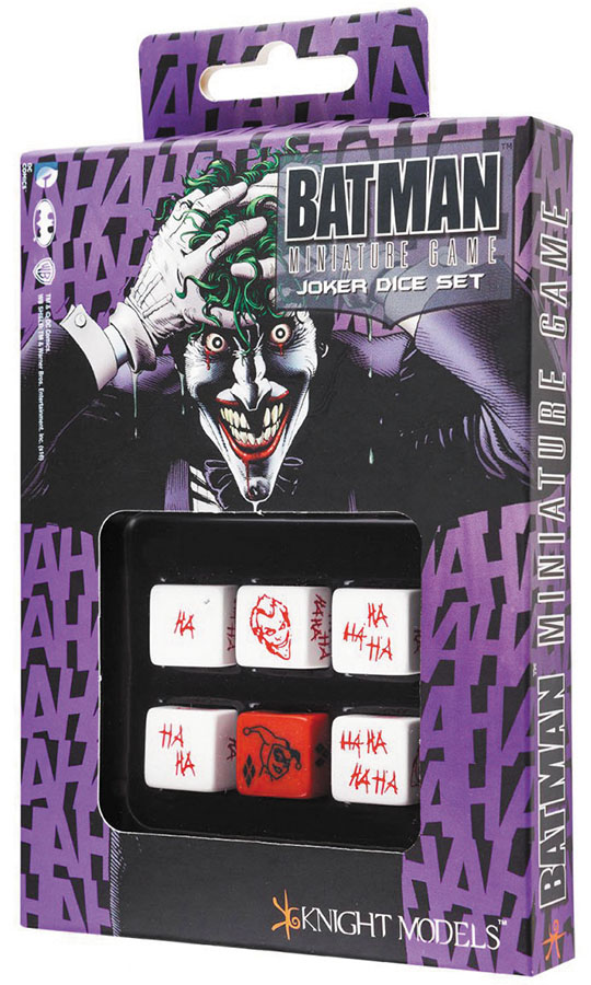 Batman Miniature Game: D6 Joker Dice Set (6) Box Front