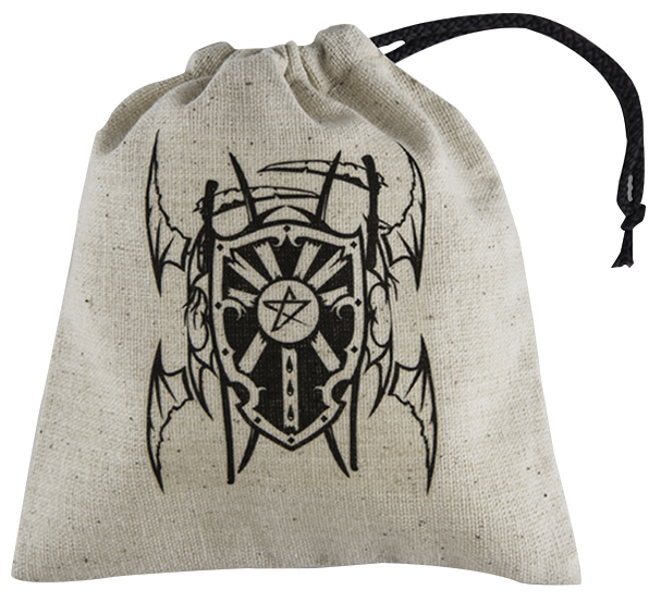 Dice Bag Basic: Vampire Beige/black Box Front