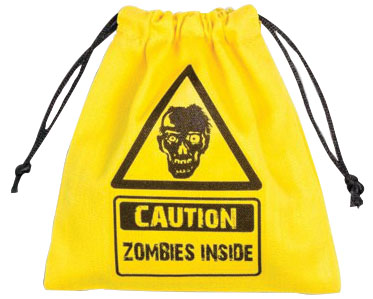 Dice Bag: Zombie Yellow Box Front
