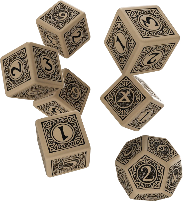 The One Ring Rpg Deluxe Dice Set 6d6+1d12 (7) Box Front