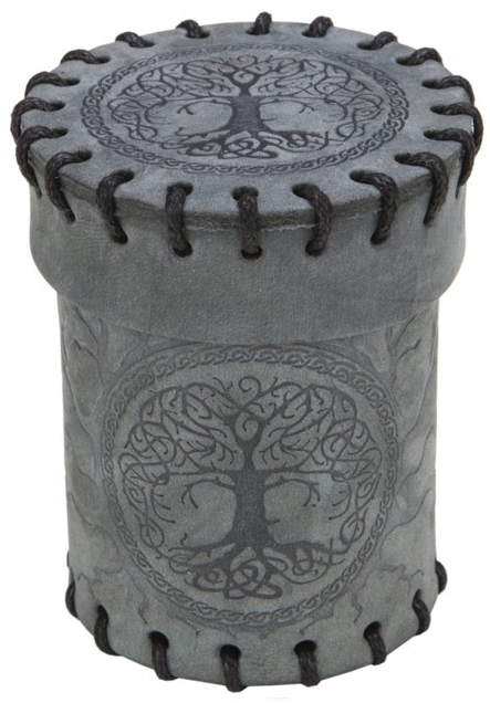 Dice Cup: Forest Graphite Suede Box Front