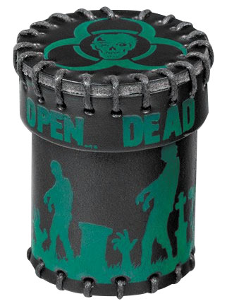Dice Cup: Zombie Black Leather Box Front