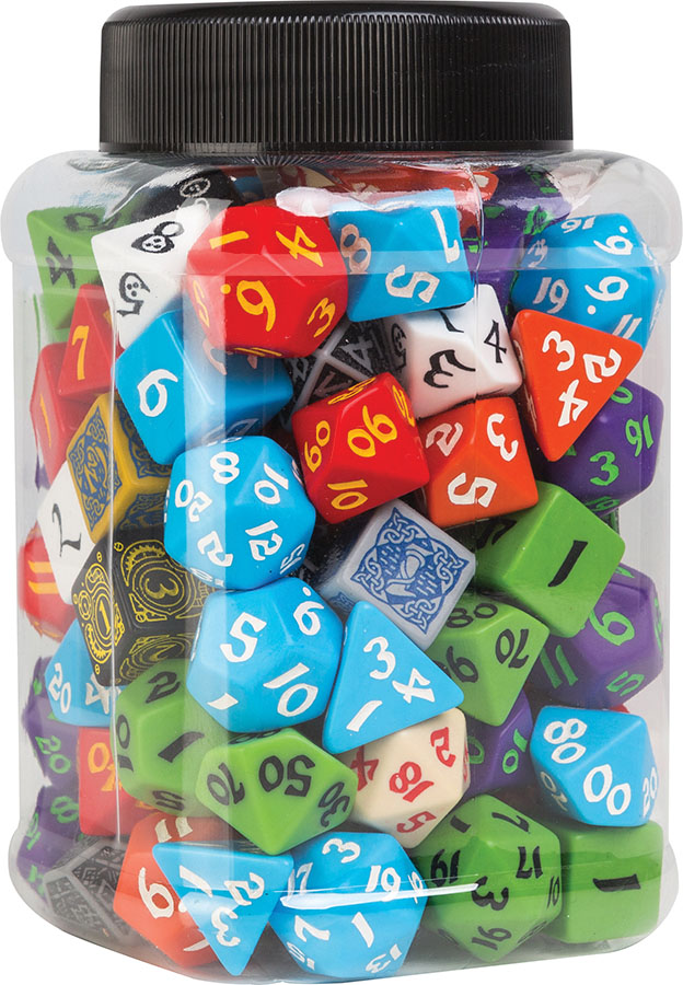 Jar Of Classic Rpg Dice Game Box