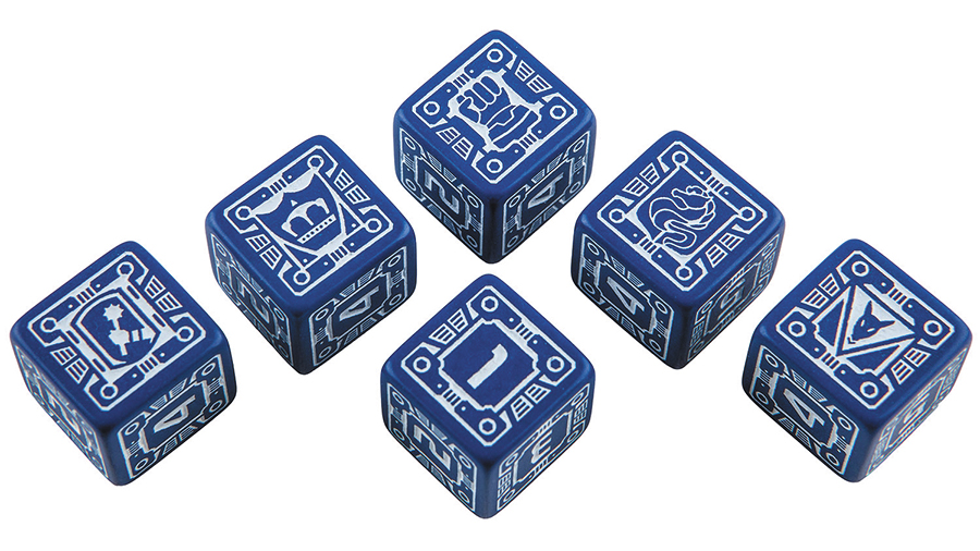 Battletech House Steiner D6 Dice Set (6) Box Front