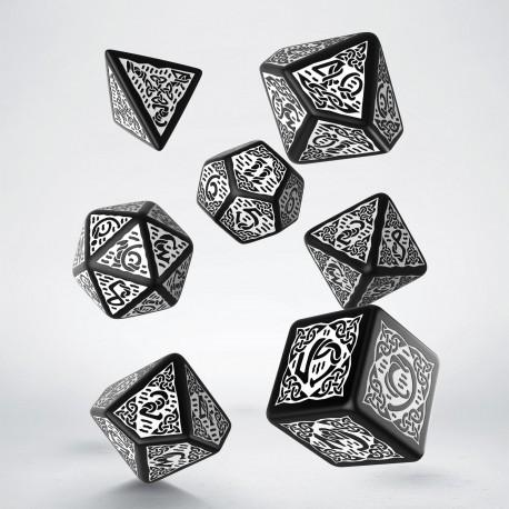 Celtic Dice Set 3d Black/white Revised (7)