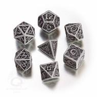 Celtic Dice Set 3d Grey/black (7) Box Front