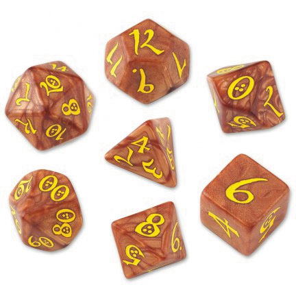 Classic Rpg Dice Set Caramel/yellow (7) Box Front