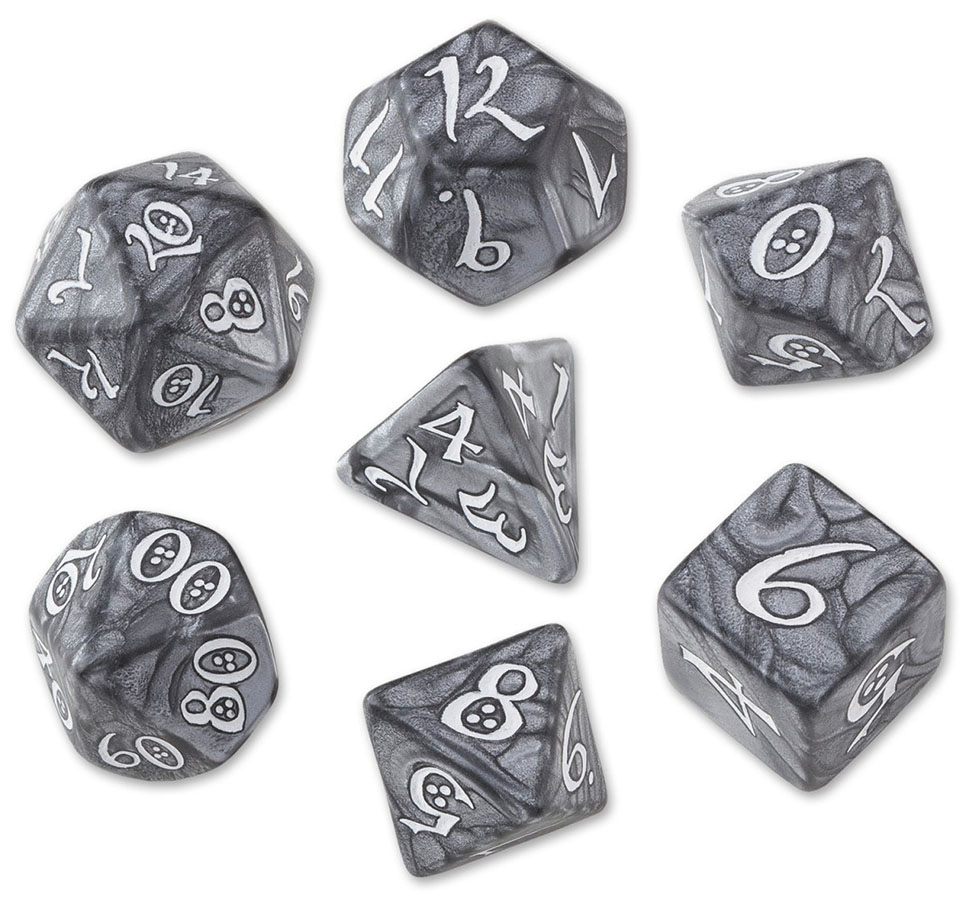 Classic Rpg Dice Set Smoky/white (7) Box Front