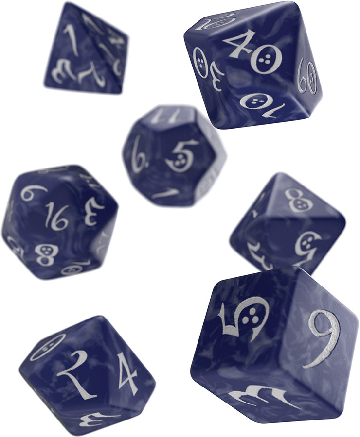 Classic Rpg Dice Set Colbalt/white (7) Box Front
