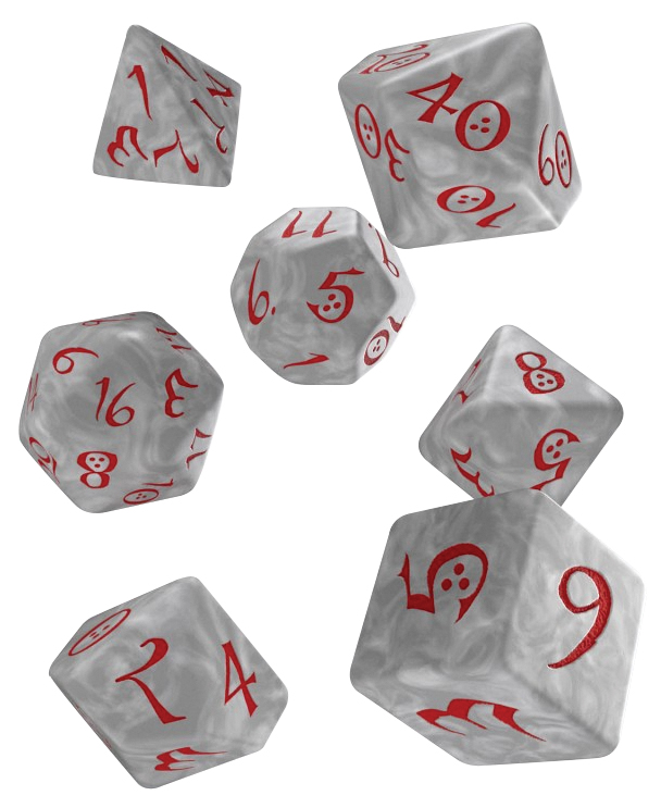 Classic Rpg Dice Set Pearl/red (7) Box Front