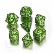 Call Of Cthulhu Dice Set Green/glowndark (7) Box Front