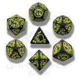 Dragons Dice Set Black/yellow (7) Box Front