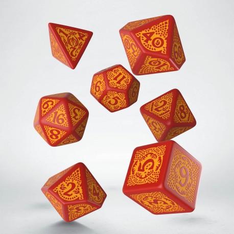 Dragon Slayer Dice Set Red/orange