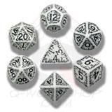Elvish Dice Set White/black (7) Box Front