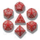 Elvish Dice Set Red/white (7) Game Box