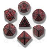 Elvish Dice Set Black/red (7) Box Front