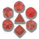 Elvish Dice Set Transparent/red (7) Box Front