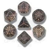 Elvish Dice Set Transparent/black (7) Box Front
