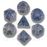 Elvish Dice Set Transparent/blue (7) Box Front