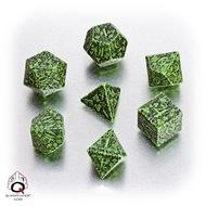 Forest Dice Set 3d Green/black (7) Box Front