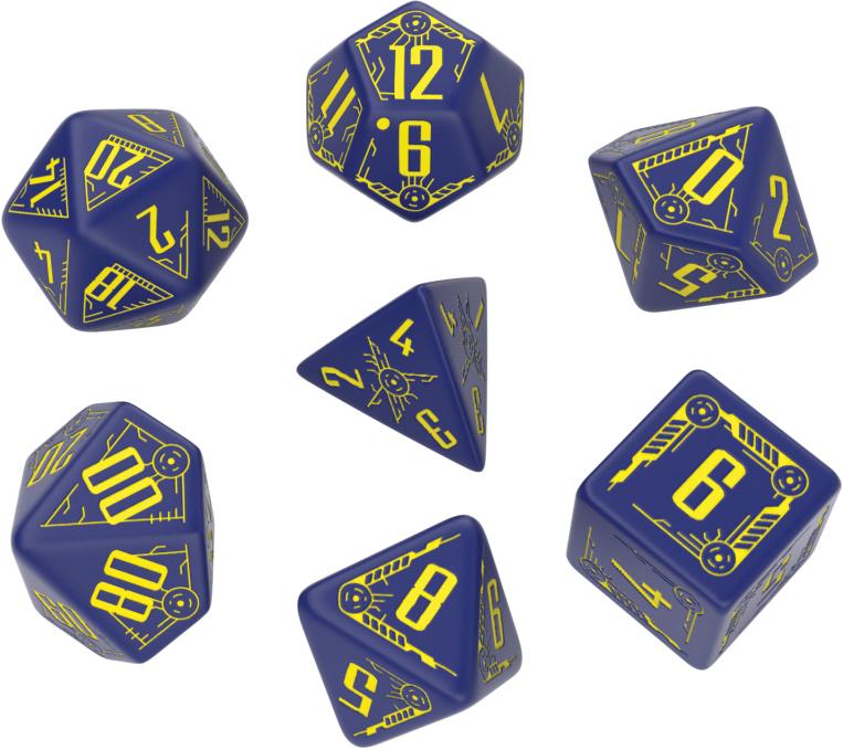 Galactic: Navy/yellow Dice Set (7) Box Front