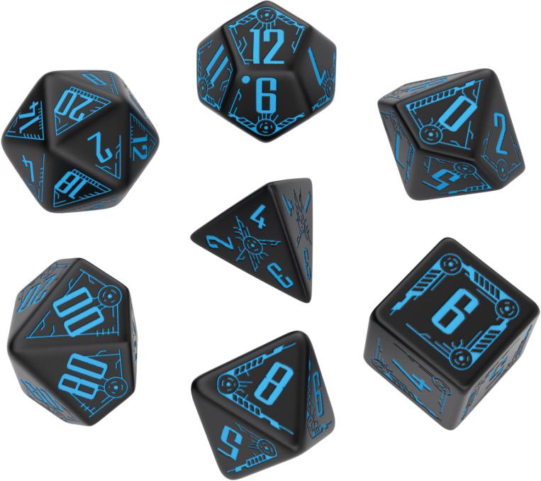 Galactic: Black/blue Dice Set (7) Box Front