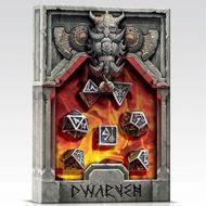 Metal Dice Set: Dwarven (7) Box Front