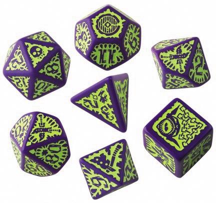 Pathfinder Goblin Purple/green Dice Set (7) Box Front