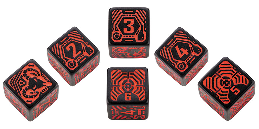 Shadowrun Dice Set Street Samurai (6) Box Front