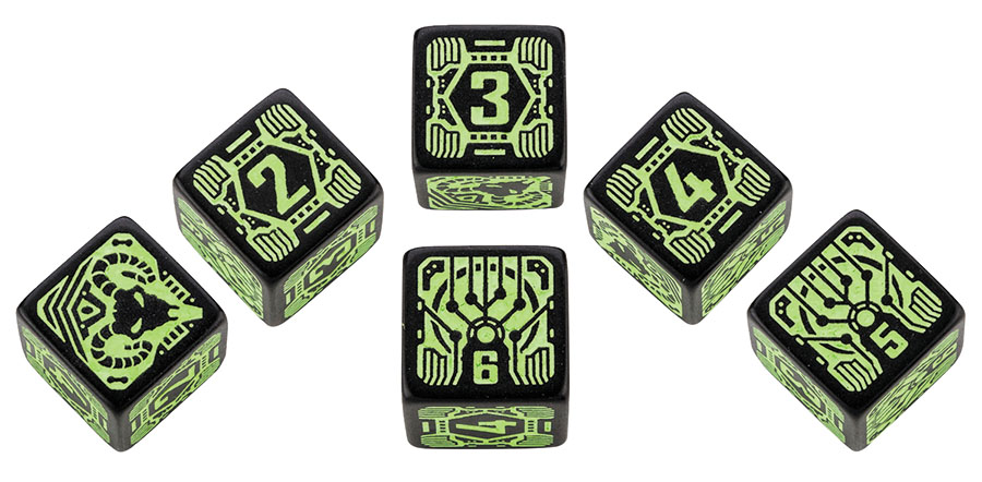 Shadowrun Dice Set Decker (6) Box Front