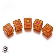 Ork Dice Set D6 Red/yellow (5) Box Front
