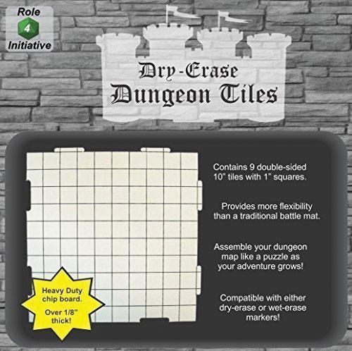 Dry Erase Dungeon Tiles - Pack Of Nine 10` Interlocking Tiles Box Front