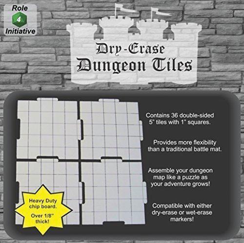 Dry Erase Dungeon Tiles - Pack Of Thirty Six 5` Interlocking Tiles Box Front