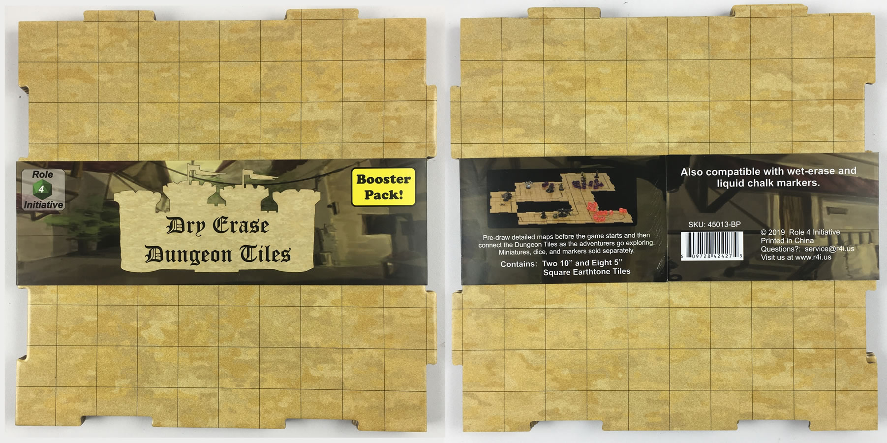 Dry-erase Dungeon Tile Booster Pack - Earthtone
