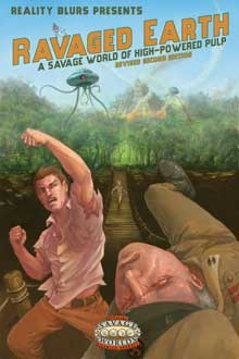 Savage Worlds Rpg: Ravaged Earth, Revised Second Edition Box Front
