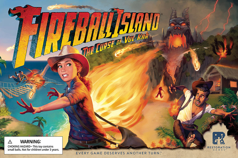 Fireball Island: The Curse Of Vul Kar Game Box