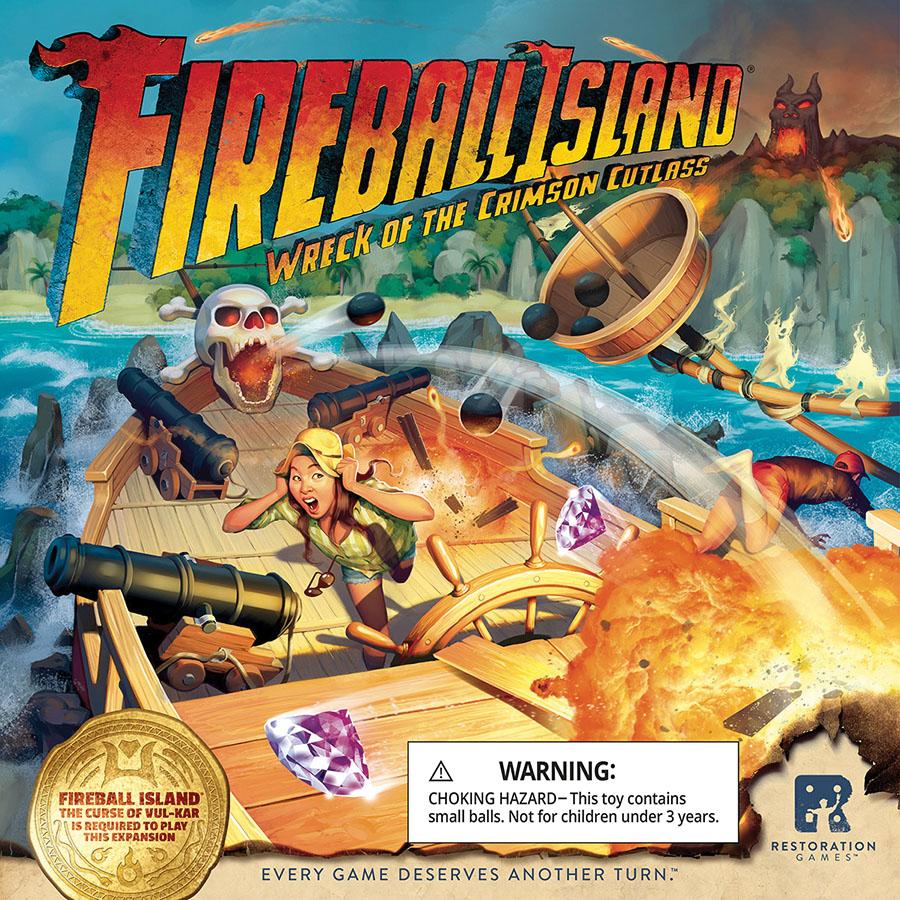 Fireball Island: Wreck Of The Crimson Cutlass Game Box