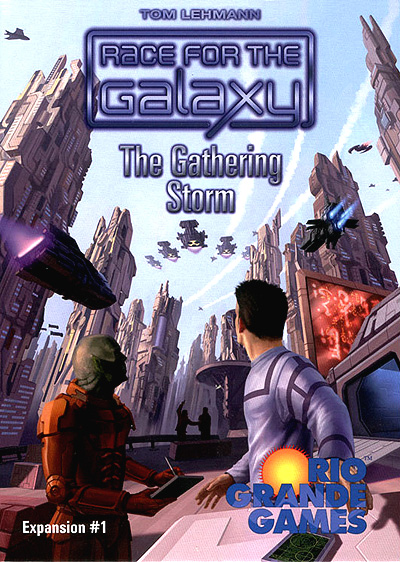 Race For The Galaxy: The Gathering Storm Expansion Box Front