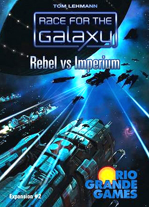 Race For The Galaxy: Rebel Vs Imperium Expansion Box Front