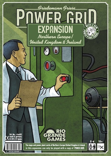 Power Grid: Northern Europe/united Kingdom And Ireland Expansion Box Front