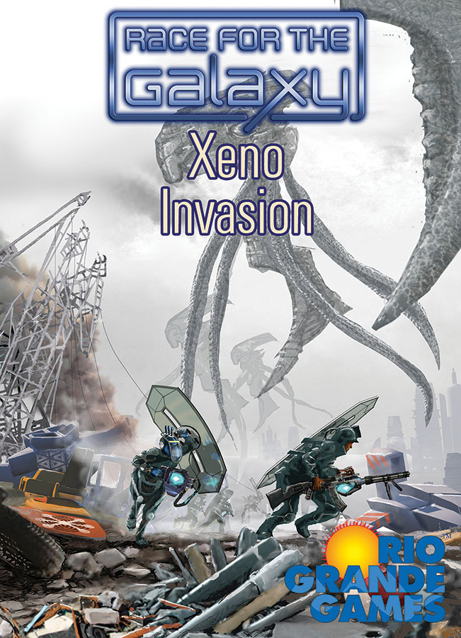 Race For The Galaxy: Xeno Invasion Expansion Box Front