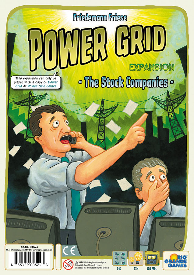 Power Grid: The Stock Companies Expansion Box Front