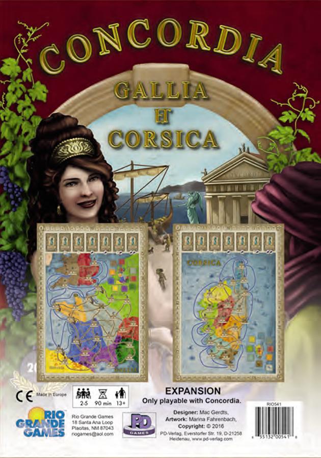 Concordia: Gallia And Corsica Expansion Box Front