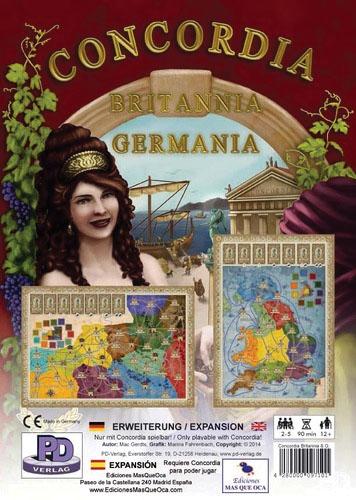 Concordia: Britannia And Germania Expansion Box Front