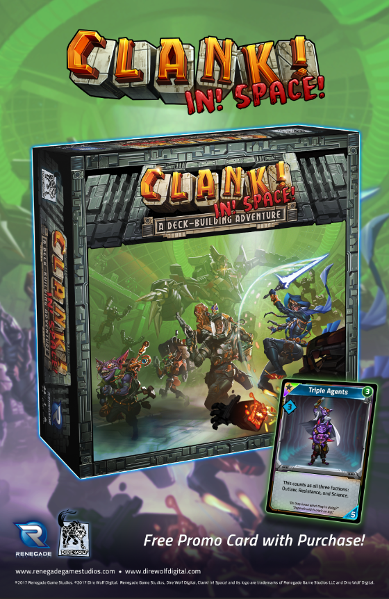 Clank! In! Space! Launch Kit! Box Front