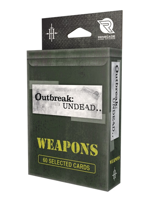 Outbreak Undead 2nd Edition: Weapons Deck Game Box