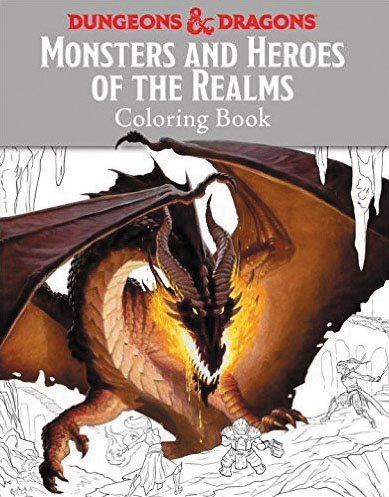 Monsters And Heroes Of The Realms: A Dungeons & Dragons Coloring Book Box Front